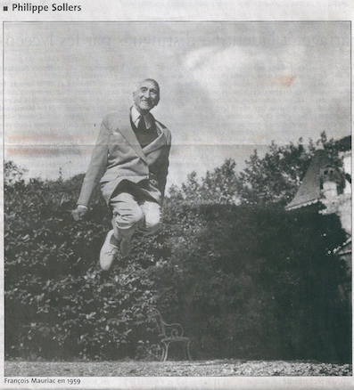 1959. 5n. François Mauriac en 1959. Photo du jumpologue. Philippe Halsman. Philippe Sollers Le Monde