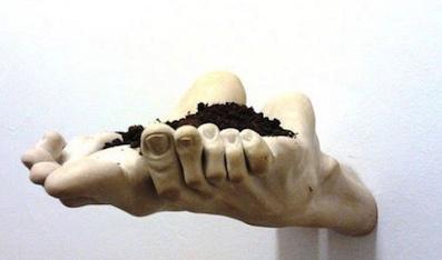 Le pied dans l'art