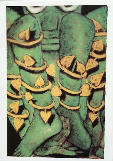 Francesco Clemente. Silence  1991. Centre Georges Pompidou. Achat 1995._IMG_2549_1024 - copie